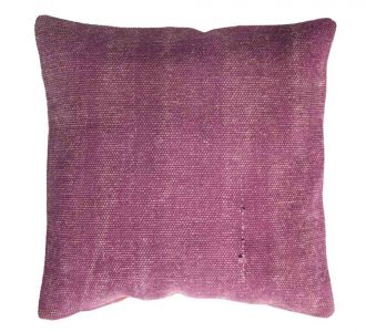 Creatively Designed Wine Coloured Cotton Cushion Covers With Zip To Protect The Filling