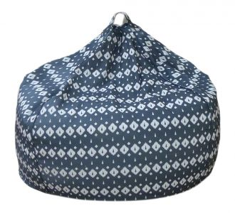 Cool And Soft Printed Organic Cotton Grey Bean Bag Covers In
