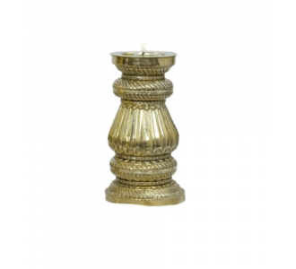 Handcrafted Jaipuri Brass Candle Holder Stand Lantern Small 9
