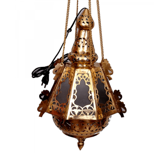 Brass Jaipuri Lantern 18 In Hight And 12 In Dia With Glass Fiting
