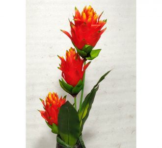 Artifical Plastic Flower For Home Decor In The Shade Of Orange