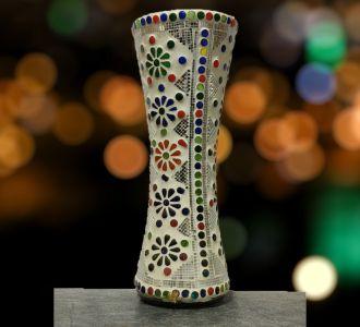 Porcelain Cylinder Vase Home Decorative Item