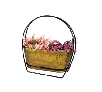 Bountiful Table Planter In Black Colour Composed Of Metal Ideal For Decoring Your Home