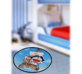 Amazing Digital Print Round Shape Door Mats Doraemon Design Home Accessories For Festive And Everyday Decor