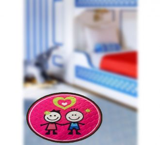 Stunning Digital Print Round Shape Door Mats Girl Boy And Heart Buy Home Decor And Gifting Products Online