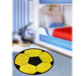 Classic Digital Print Round Shape Door Mats Ball Design Home Decor And Gifting Products