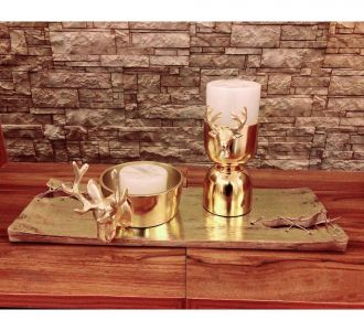 Metal Made Candle Stand With Aroma Candles In Golden Colour Sale On Home Decor Items Online In India