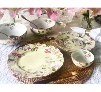 Elegant Porcelain Dinner Set Of 21 Pieces In Multi Colour Home Decor Product Online In India On Sale