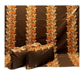 Pure Cotton Bedcover King Size Premium Bedsheets Chocolate Colour