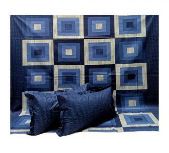 100% Pure Cotton King Size Premium Bed Linen Bedsheets Navy Blue