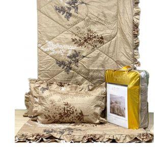 Colloande Grey Floral Bedsheet Set Comforter Set 4 Pcs