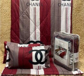 Brands Printed Bedding Set Comforter Set Maroon And Grey