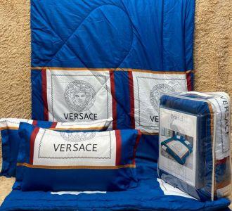 Brands Print Blue Comforter Set Bedding Set Of 4