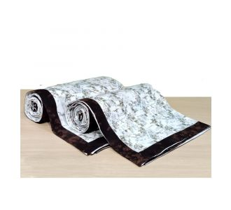 Pure Cotton Single Bed Topsheet Brown And Off White