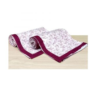 Pure Cotton Single Bed Topsheet Onion And Off White