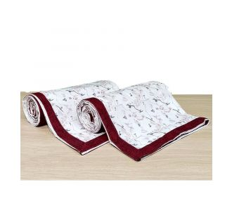 Pure Cotton Topsheet Bedsheet For Single Bed Rosewood And Off White