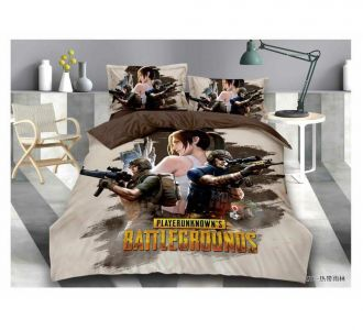 Double Bed Pubg Print Kids Bedsheet