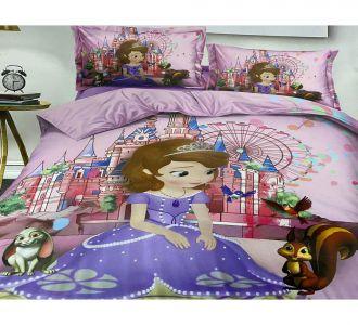 Double Bed Princess Sofia Print Kids Bedsheet