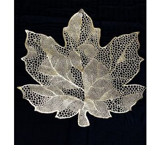 Leaf Laser Placemats For Dining Table Silver And Gold