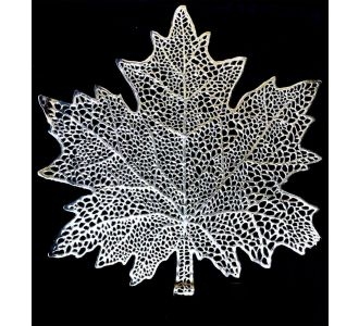 Leaf Laser Tablemats For Dining Table Silver Placemat