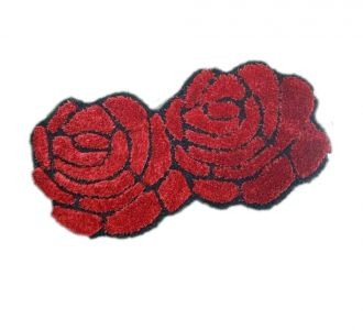 Double Rose Floor Carpets 3D Runners Red