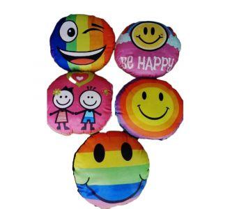 Set Of 5 Enchanting Emojis Cushion Fronts Of Sensitive Surface With Semi Plastic