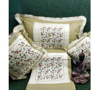 Sage Green 90 X 100 Broken Kashmiri Cushion