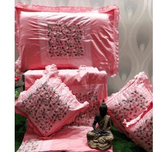 Pink Embroidered Cushion Set Kashmiri 90 X 100