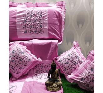 Purple Kashmiri Embroidered Cushion Set 90 X 100