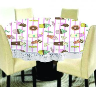 Amazing Big Size Round Table Covers Ice Cream Printed Buy Home And Gifting Products Online High Quality Designer Items