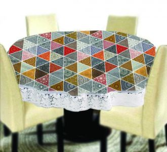Amazing Big Size Round Table Covers Vibrant Triangle Printed Buy Home And Gifting Products Online High Quality Designer Items
