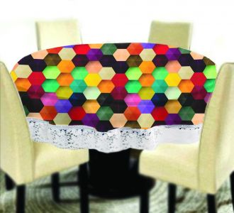 Amazing Big Size Round Table Covers Vibrant Hexagon Design Buy Home And Gifting Products Online High Quality Designer Items