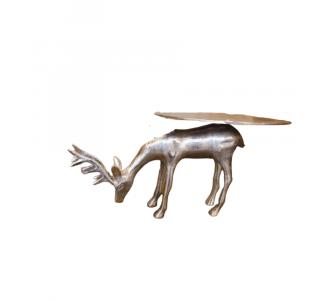 Attractive Metal Deer Golden Plate