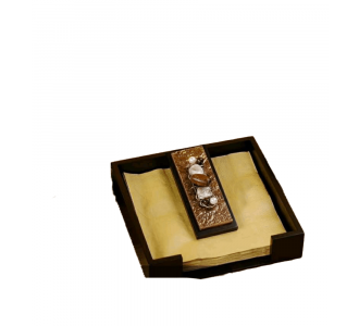 Awesome Stripe Copper Napkin Trays Comprising Of Woood In Brown Hue