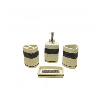 Set Of 4 Magnificent Bathrooms With An Italian Granite Feel