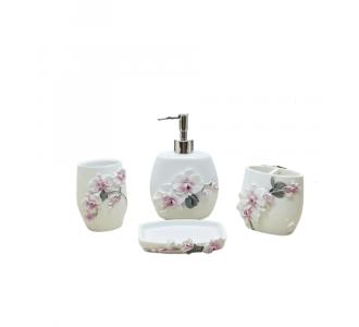 Exquisite Bathroom Set Of 4 With An Italian Granite Look