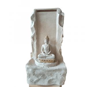 Polyfiber Small Buddha Fountain In Silver Sand Colour