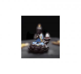 Beautiful Polyresin Buddha Smoke Fountain With 5 Backflow Smoke Cones