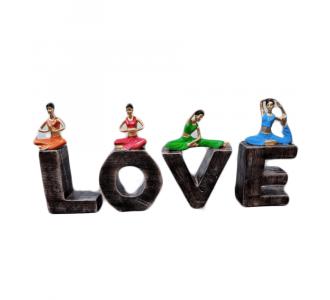 Wonderful Home Love Yoga With Multi Colored Yoga Woman
