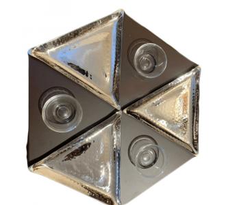 3 Platform Triangular The Plate Is Rotating 1 Platform Of Wood + 3 Plats Of Steel + 3 Tiny Bowls