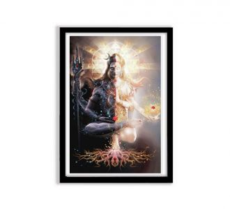 Powerful Multi Coloured Shiv Photo Frames Made Out Of Mdf Wood As Wall Decor In Home For Sale Online