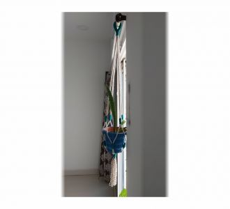 Sulajh White And Green Macrame Plant Hanger