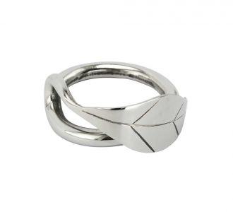 Willow Leaf Napkin Ring Set 6