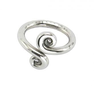 Lily Leaf Napkin Ring Set 6