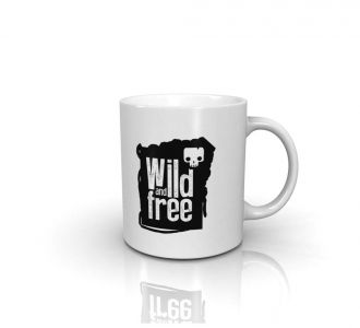 Fantastic Wild And Free Mug Containing Ceramic In White And Black Shade