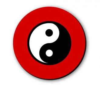 Exquisite Ying And Yang Fridge Magnet Prepared By The Medium Density Fibreboard