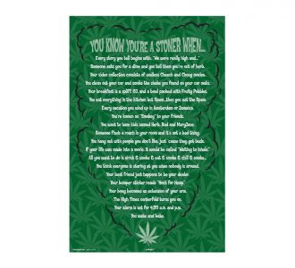Amazing You Are A Stoner When Poster Containing Paper