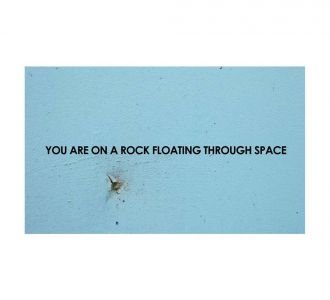 Superb You Are On A Rock Poster Made Out Of Paper In Sky Blue