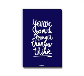Magnificent You Are Stronger Than You Think Fridge Magnet Prepared With Medium Density Fibreboard