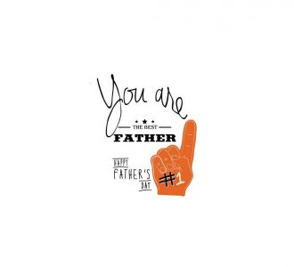 Exquisite You Are The Best Father Poster Made Up Of Paper